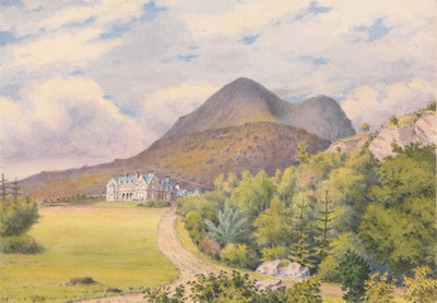 Torridon House, D. Darroch, Esqr. September 1883 [Scotland] Poster Art Print by Edward Gennys Fanshawe