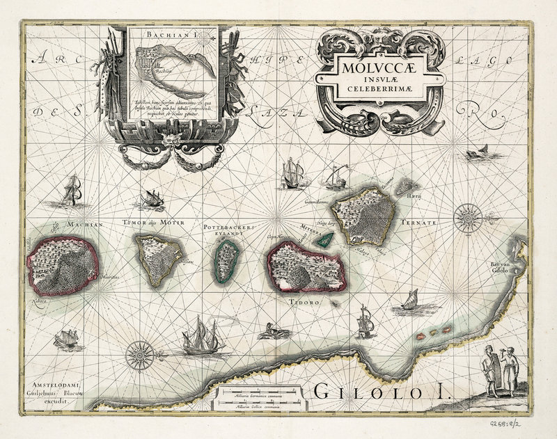 Chart of the Moluccas, Indonesia