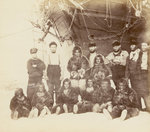 At Cape York - Group of Arctic Highlanders and Seamen of the Expedition by Unknown - print