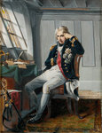 Viscount Horatio Nelson (1758-1805), before the Battle of Trafalgar, 21 October 1805