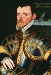 Admiral Sir Richard Hawkins (1532-1595) by George Gower - print
