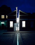 Illuminated Meridian Line at night, Royal Observatory, Greenwich by National Maritime Museum Photo Studio - print