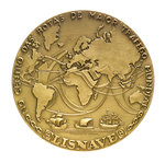 Medal commemorating the opening of the Lisbon dry dock, 1967; reverse by Leopoldo de Almeida - print