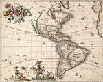 Chart of the Americas by Nikolaus Visscher - print