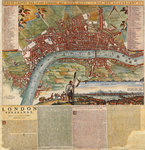 A Dutch map showing areas devastated by the Great Fire of London, 1666 by Unknown - print