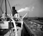 View from the Docking Bridge on the 'Aquitania' (1914) by Bedford Lemere & Co. - print