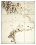 Plan of the harbour, fort, town and environs of Fort Royal in Martinique by William Booth - print