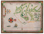 The south part of Virginia, 1657 by Nicholas Comberford - print