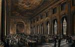 Officers dining in the Painted Hall during WWII by Muirhead Bone - print