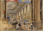 The Painted Hall, Greenwich, 1 June 1843, open to the public as an art gallery by Thomas Smith Cafe - print