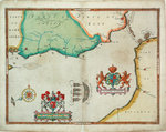 Map of 'The pursuit to Calais, 4 - 6 August 1588' by Robert Adams - print