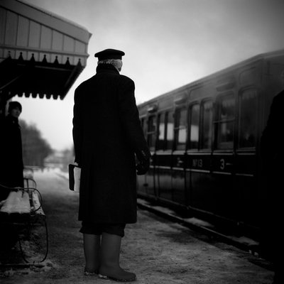 Railway Guard, Mid-Suffolk Light Railway, 2009 by Paul Cooklin - print