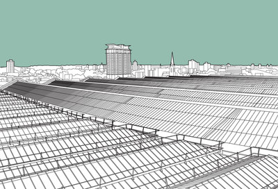 Fine Art Print of Waterloo Station Roof by People Will Always Need Plates