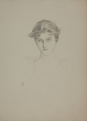 Mrs E. Tennant (afterwards Lady Glenconner) by Violet Lindsay Manners the Dutchess of Rutland - print