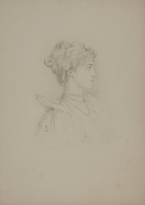 Mrs George Batten by Violet Lindsay Manners the Dutchess of Rutland - print