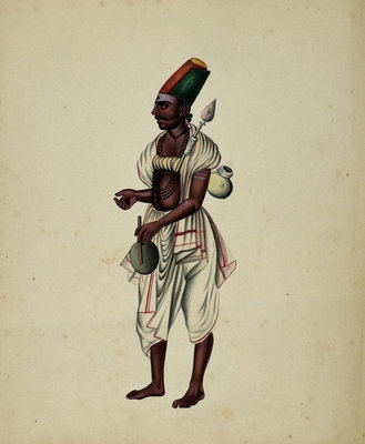 Mullebar Beggar by Indian School - print