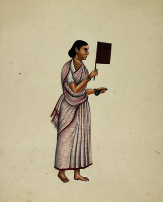 Mullebar Beggar's Wife by Indian School - print