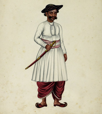 Collector's Servant by Indian School - print
