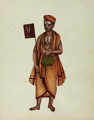 Hindu Beggar by Indian School - print