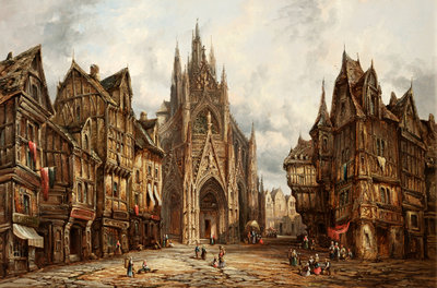 St. Maclou, Rouen, Normandy by Heinrich Schäfer - print