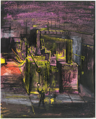Fine Art Print of Furnaces - End View by Graham Sutherland