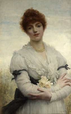 An English Girl (The Wife of the Artist) by Luke Fildes - print