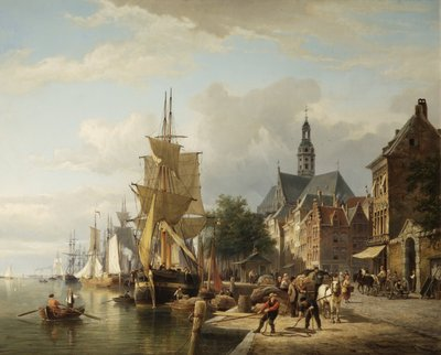 The Harbour Antwerp by Cornelis Christiaan Dommershuijzen - print