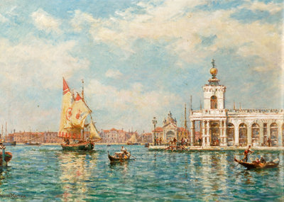 Old Custom House, Venice, Italy Poster Art Print by Bernard Finnigan Gribble