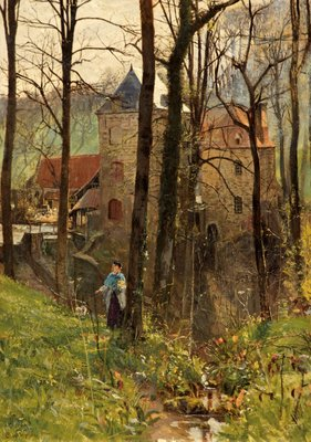 The Old Mill, Boulogne Poster Art Print by Charles W. Wyllie