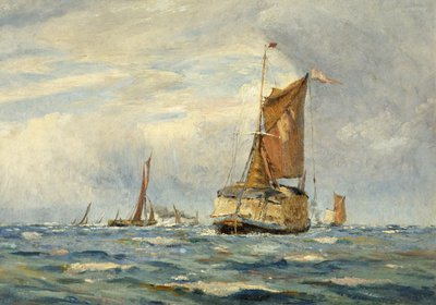 A Breezy Day on the Medway by William Lionel Wyllie - print