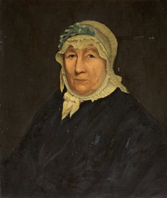 Portrait of Mrs Allan Clark by British School - print