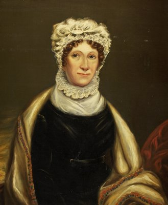 Portrait of Mrs William Clark by British School - print