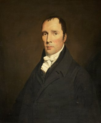 Portrait of William Clark JP of East Woodside Glasgow by British School - print