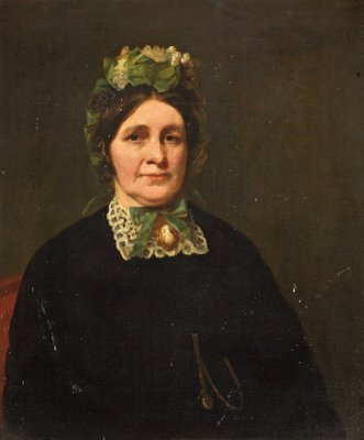 Mrs Samuel Cotes (1803–1875) by British School - print