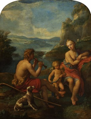 Daphnis and Chloe by Francesco Albani - print