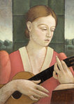 Woman with a Guitar by John Downton - print