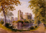 View of Raglan Castle Poster Art Print by G. M. Rolls