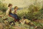 The Bird's Nest by Myles Birket Foster - print