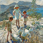A Cornish Holiday by Dorothea Sharp - print