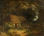 Woodland Scene with Cottage