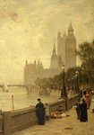 The Thames Embankment by James Aumonier - print