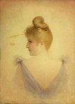A Blonde by Georges Croegaert - print