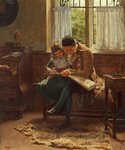 The Scrap Book by Laura Theresa Alma-Tadema - print