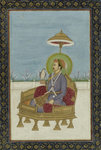 The Mogul Emperor Jahangir by Indian School - print