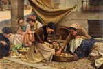 Spanish Market Women at Bilbao by Eusebio Perez de Valleurca - print