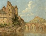 Chateau and Two Bridges by Isabella Dods-Withers - print