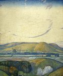 Sussex, Mount Caburn from Itford Hill by Edward Reginald Frampton - print