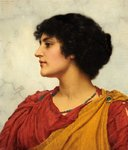 An Italian Girl's Head by John William Godward - print