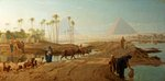 The Subsiding of the Nile by Frederick Goodall - print