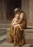 Egyptian Woman and Child by Frederick Goodall - print